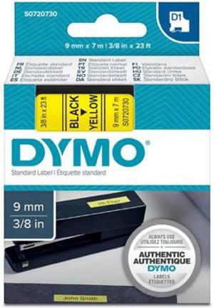 Páska DYMO do štítkovača 40918 D1 Black On Yellow Tape (9mm)