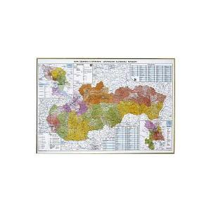 Mapa SR administratívna 120x90cm