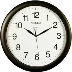 Nástenné hodiny S TS8002-17 (508) SECCO čierne