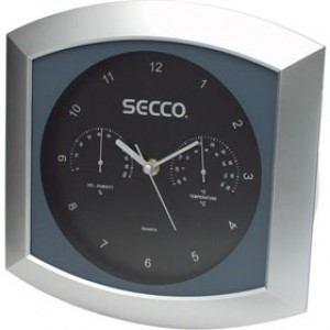 Nástenné hodiny SECCO S KL3366 28cm šedé