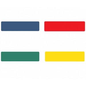 Páska PVC, Tarifold, prúžok na podlahu, 200x50mm - červená/10ks