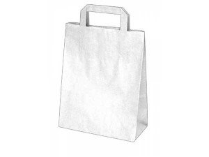 Taška papierová 32x16x27cm biele 50ks