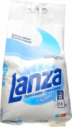 Prací prášok Lanza Expert 7,5kg/100PD biela