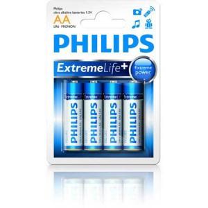 Batéria Philips ultra alkaline AA (LR6) 1,5V / 4 ks  phLR6EL