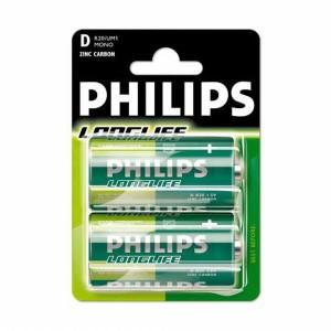 Batéria Philips Longlife C R14 / 2ks  phR14LL