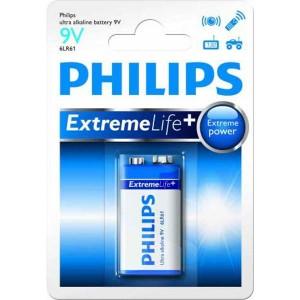 Batéria Philips Ultra Alkaline 9V (6LR61)  ph9VEL