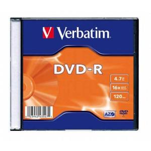 DVD-R Verbatim 4,7GB 16x slim box  ve43547