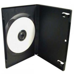 Box na 1 ks DVD, čierny, slim, 9mm