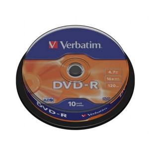 DVD-R Verbatim 4,7GB 16x 10ks cake box  ve43523