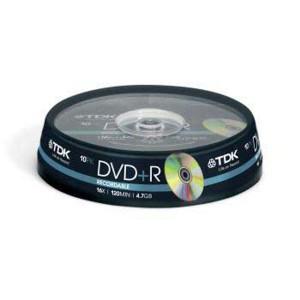DVD+R TDK 4,7GB cake box, 16x, 10-pack