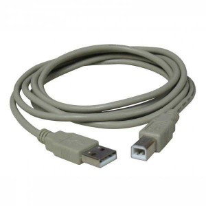 Kábel USB (2.0), A plug/B plug, 3m, LOGO