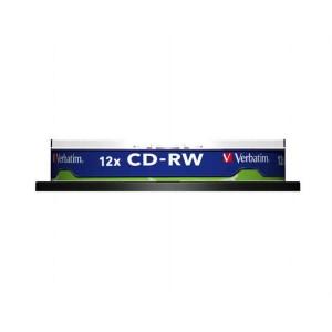 CD-RW Verbatim 700MB 12x / 10ks Cake Box  ve43480
