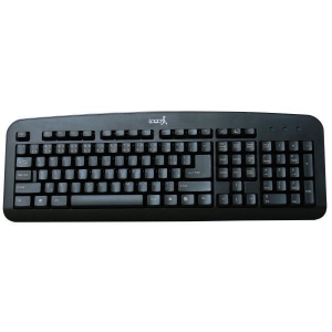 Klávesnica LOGO štandardná, čierna, USB, SK/CZ