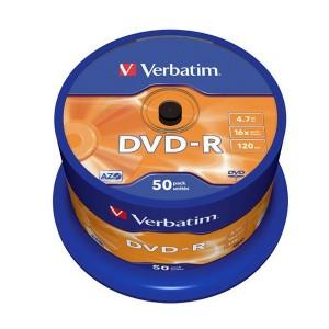 DVD-R Verbatim 4,7GB 16x 50ks cake box  ve43548