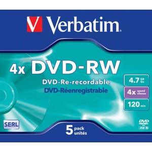 DVD-RW Verbatim 4,7GB 4x jewel case
