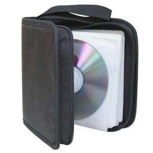 Box na 24 ks CD, textil, čierna, album, zips  lo18717