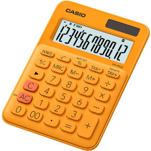 Kalkulačka Casio MS 20 UC RG oranžová