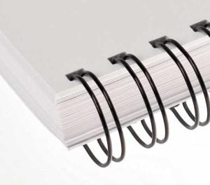 Drôtový hrebeň , 7,9mm, 2:1, 23 otvorov, čierna / 100ks  dh00801