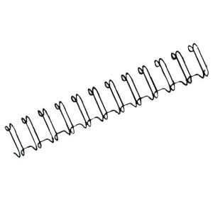 Drôtový hrebeň , 22mm, 2,1 23 otvorov, čierna / 50ks