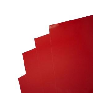 Kartónové dosky chromolux A4, červená  re254002