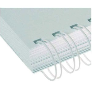 Drôtový hrebeň , 25,4mm, 2,1 23 otvorov, biela