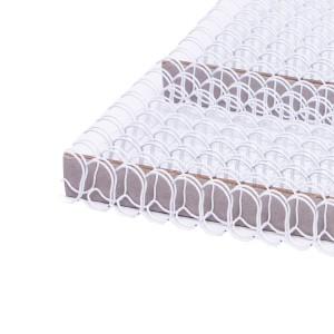 Drôtový hrebeň , 14,3mm, 2,1 23 otvorov, biela / 100ks  dh01400