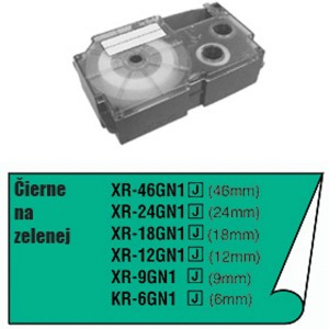 Páska Casio 6mm čierne / zelená