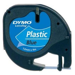 Páska do Dymo Letra Tag 12mmx4m plastová modrá