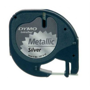 Páska do Dymo Letra Tag 12mmx4m  metalická strieborná dy721710