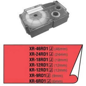 Páska Casio 18mm čierne / červená