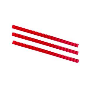 Plastový hrebeň 16mm, červená  hr1602