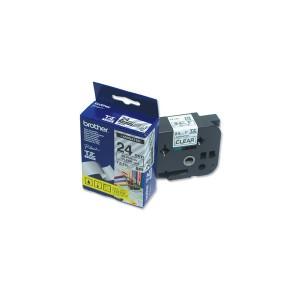 Páska TZ-151 24mm priehľadná/čierna