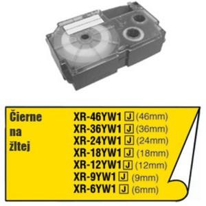 Páska Casio 12mm čierne / žltá