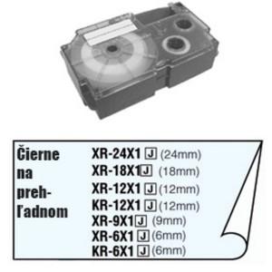 Páska Casio 9mm čierne / priehľadná
