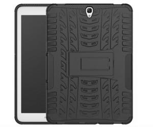 Puzdro na tablet silikónové SAMSUNG GALAXY TAB S3 9,7 so stojanom - čierna