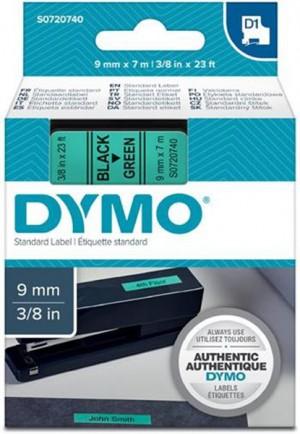 Páska DYMO do štítkovača 40919 D1 Black On Green Tape (9mm)