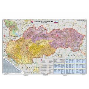 Mapa Slovenská republika - PSČ 140x100 cm